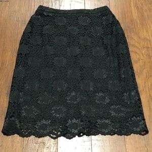 Willi Smith black lace skirt